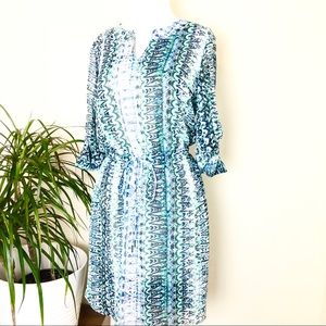 🛍Two by Vince Camuto green /blue dress